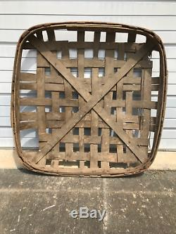 Authentic Antique Tobacco Basket From Wilson North Carolina