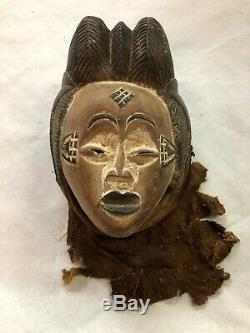 Authentic Gabon Punu Tribal African Art Mask From Private Collection