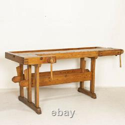 Authentic Vintage Carpenters Workbench Work Table from Denmark