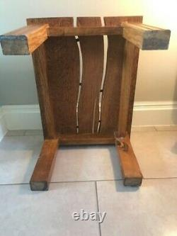 BESPOKE ORIGINAL SOLID WOOD COFFEE SIDE TABLE (Made from 16th Century barn oak)