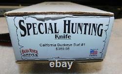 Bark River Special Hunting Knife California Buckeye Burl A2 from 2012 NIB