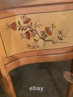 Beautiful Butterfly Painted Vintage Vanity From 50s, Flip Up Mirror 40x16x29
