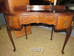 Burl wood kidney shape desk from Scotland