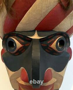 Carved Tribal Mask from Pacific Northwest Coast by David Frankel