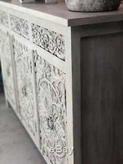 Carved sideboard Made From Mango Wood
