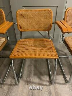Chairs Cesca Designed By Marcel Breuer / originally from Knoll Furniture