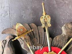 Collectible Wall Mount Sword Display Plaque From Toledo Spain