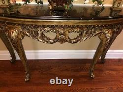 Console Table Wood & Marble Villa Console Table from ital
