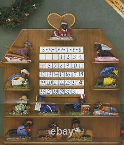 Dachshund Perpetual Calendar from The Danbury Mint