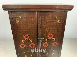Depression Era Tramp Folk Art Cabinet Made From Oats Crate
