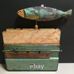 Dick Libby Folk Art Fish Weathervane from Languid Decadence Artworks