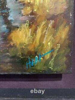 Doug Hunt From the Fields II Original Custom Framed Oil on Board Painting