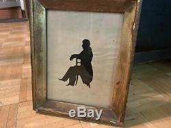 Early 19th Century Silhouette HRH Charles Of France, Done In 1830 From Picture