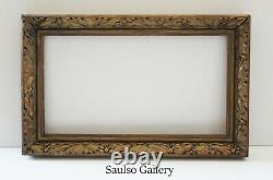 Early Art Nouveau 1890s lily designed frame from prominent estate collection