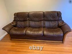 Ekornes Stressless Eldorado Leather High-Back Recliner Sofa Couch from Norway