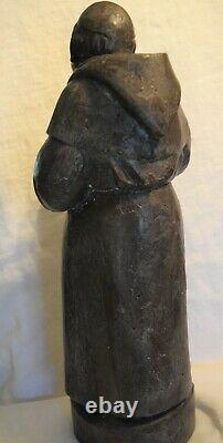 Extra Large Vintage Wood Monk From Santa Fe