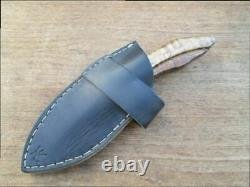 FINE Vintage Carbon Steel Hunting Knife Made from File, Custom-Made, VERY SHARP