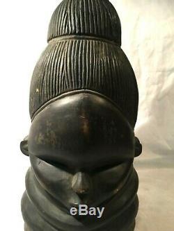 Fine African Art Mende Helmet Bundu Mask from SIERRA LEONE