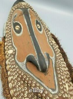 Fine Old Papua New Guinea Big Sepik River Spirit Mask From A Madison Ave Gallery