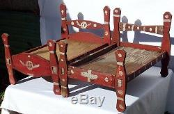 First of two great and unusual African-American doll's beds from the 1940's