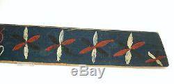 From Sweden Swedish Scutching Knife1859 Blue Pinwheels Flax Knife Scandinavian