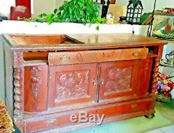 From VT-Antique repurposed sink cabinet, BEAUTIFUL Vt hardwood, 2 drawers