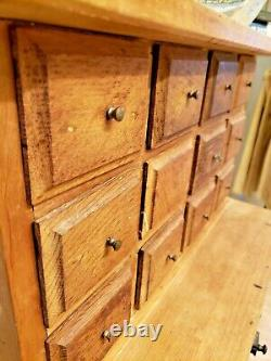 Fun Primitive Cabinet Drawers Made from Antique Wood Cigar Boxes