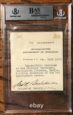 General Leonard Wood, Signed Cut From Document, MOH