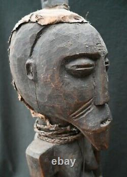 Genuine large fetish figure from the Songye, DR Congo