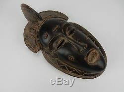 Gorgeous Intricately Carved Mask From Chamba Tribe of Nigeria 10 inches