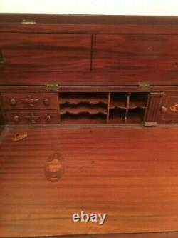 Gorgeous antique office display desk table sturdy wood made from grand piano