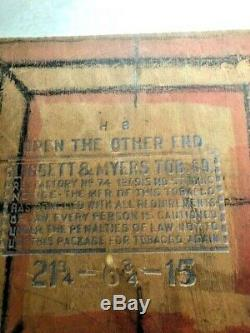Great Find Antique Primitive Checker Board made from Tobacco Crate Lid- Vintage