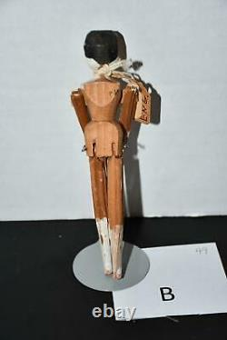 Grodnertal Penny Wooden Peg Doll from the 1900s Set of 4 Penny Dolls