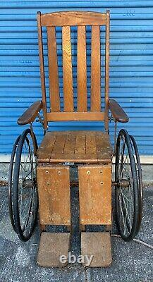 Haunted Vintage Antique Wheelchair from Shuttered Psychiatric Hospital Caution