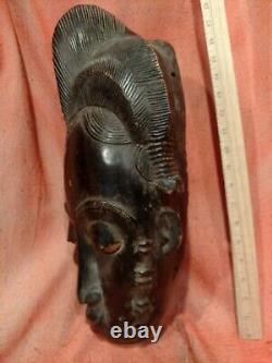 Heavy Portrait Mask from the Ivory Coast Authentic Carved Wood African Art
