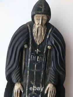 Icona Russa, Antique Russian Orthodox icon, St. Nilus(Neel) Stolobensky, from19c