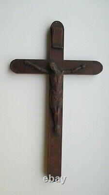 Ikone, Icona, Antique Russian Orthodox icon cross Crusifixion from 19c