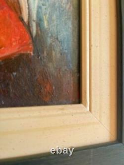 JEAN METZINGER oil on original wood from 1920's Framed