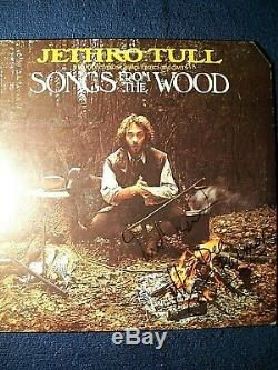 JETHRO TULL Ian Anderson Songs From The Wood Autographed Album Cover 3 RARE