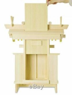 Japanese Household Shrine Kamidana Cypress Wood 34.5x22x40.5cm From Japan EMS