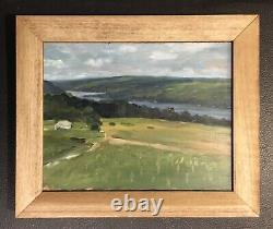 Keuka Lake From Heron Hill original oil painting 8x 10 Finger Lakes