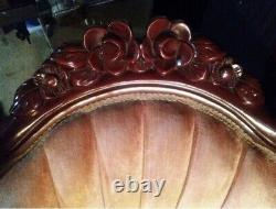 Kimball Repro. Victorian Kings & Queen Chair Honduras mahogany wood from Italy