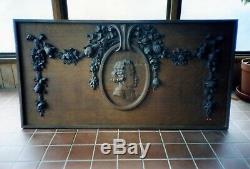 LATE 1800 GILDED AGE FRENCH WOOD CARVING From NEWPORT, RI