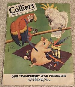 LAWSON WOOD Original COLLIER'S MAGAZINE Cover Painting From October 14, 1944