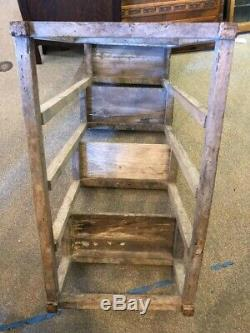 Ladder from France with Pegged Nails, French Primitive Wood with Paint Remnants