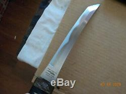 Large 13 Tanto from Parker Cutlery with Hamon line Japan-made withsheath