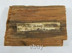 Large Piece Wood from Libby Prison Famous CSA Prison with Civil War Period LOA