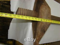 Large Primitive Antique Wood Screw From Early Grist Mill Hand Forged Hooks