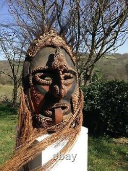 Large Sepik Spirit Mask From Papua New Guinea