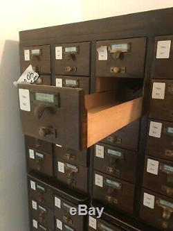 Library Card Catalog From The University Of Oregon Index File Cabinet
